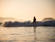 man surfing on water waves